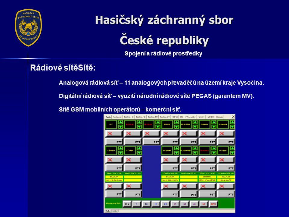 Hasičský záchranný sbor České republiky Spojení a rádiové prostředky
