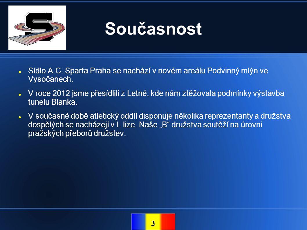 Současnost Sídlo A.C. Sparta Praha se nachází v novém areálu Podvinný mlýn ve Vysočanech.