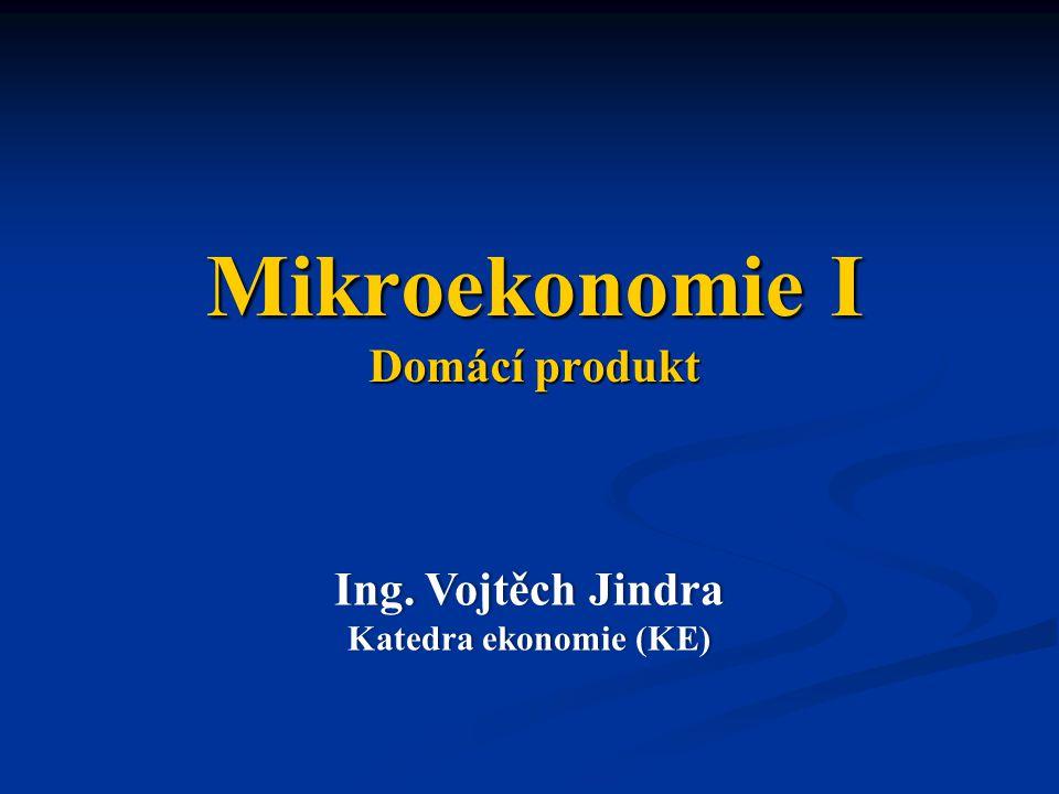 Mikroekonomie I Domácí produkt