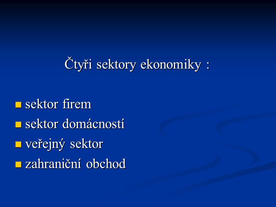 Čtyři sektory ekonomiky :