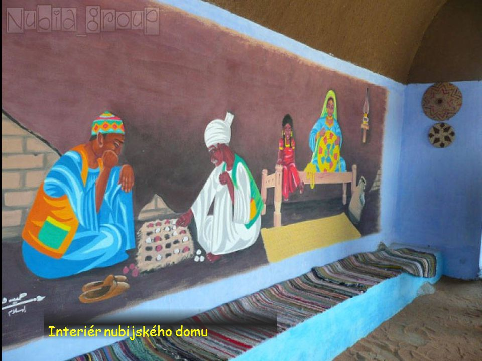 Interiér nubijského domu