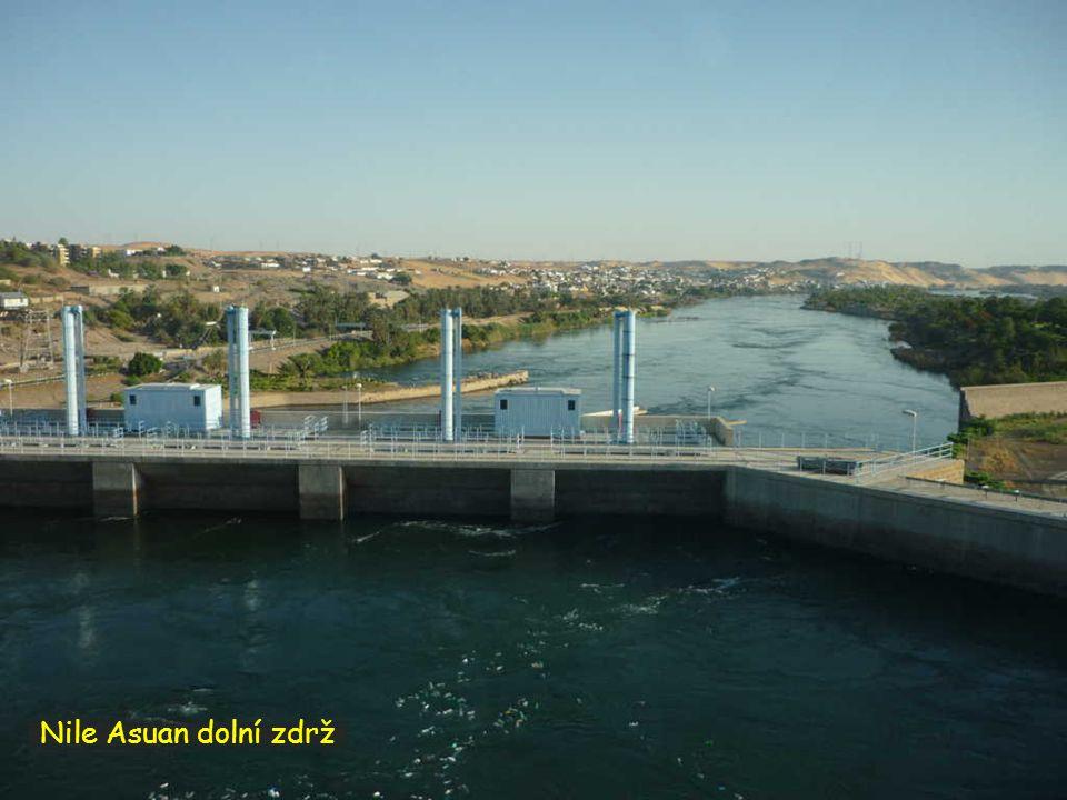 Nile Asuan dolní zdrž