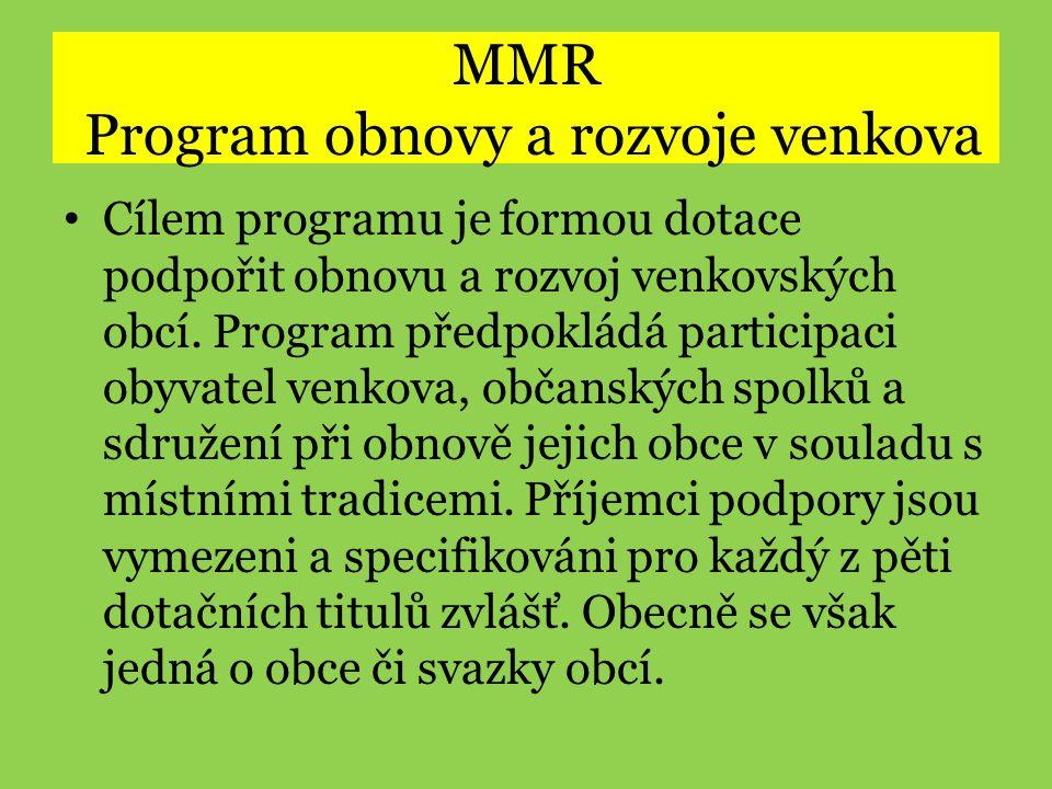 MMR Program obnovy a rozvoje venkova