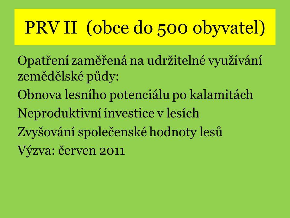 PRV II (obce do 500 obyvatel)