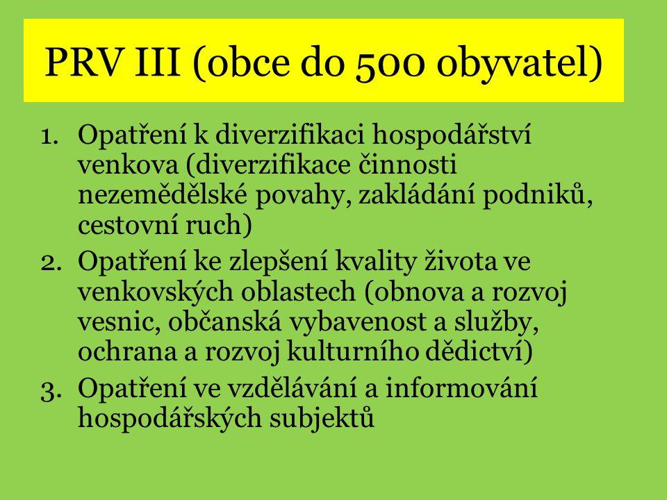 PRV III (obce do 500 obyvatel)