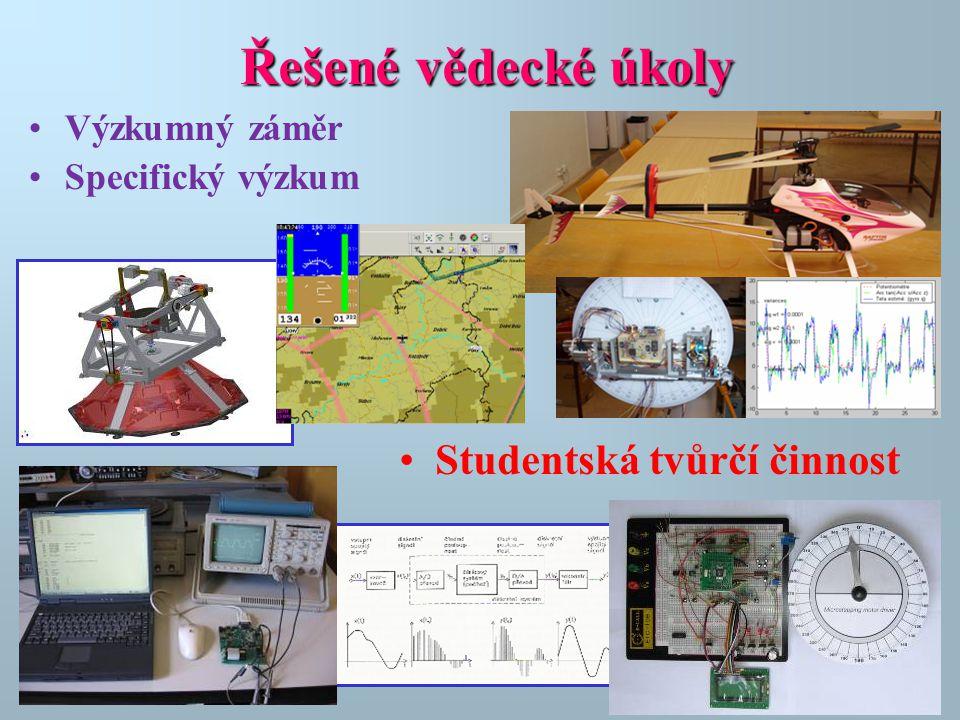 Řešené vědecké úkoly Studentská tvůrčí činnost Výzkumný záměr
