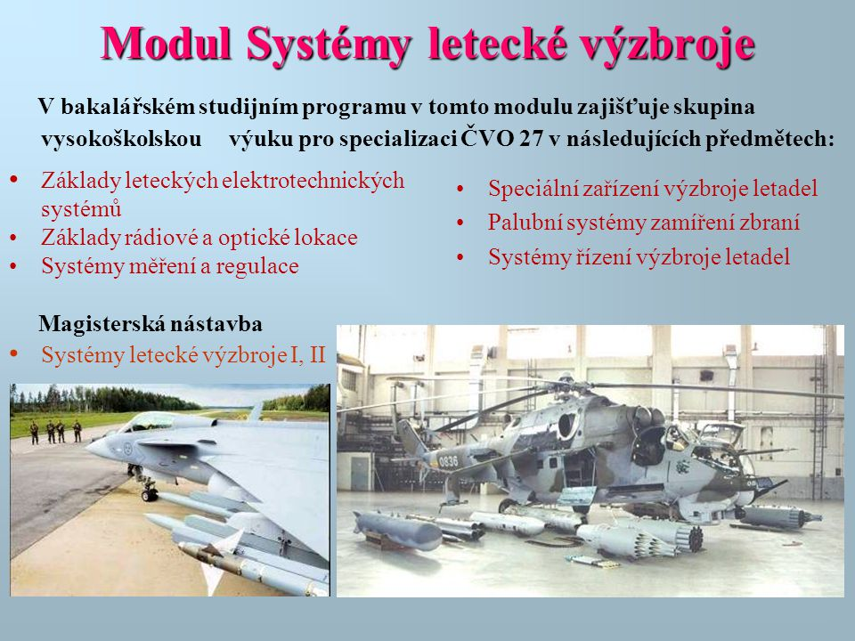Modul Systémy letecké výzbroje