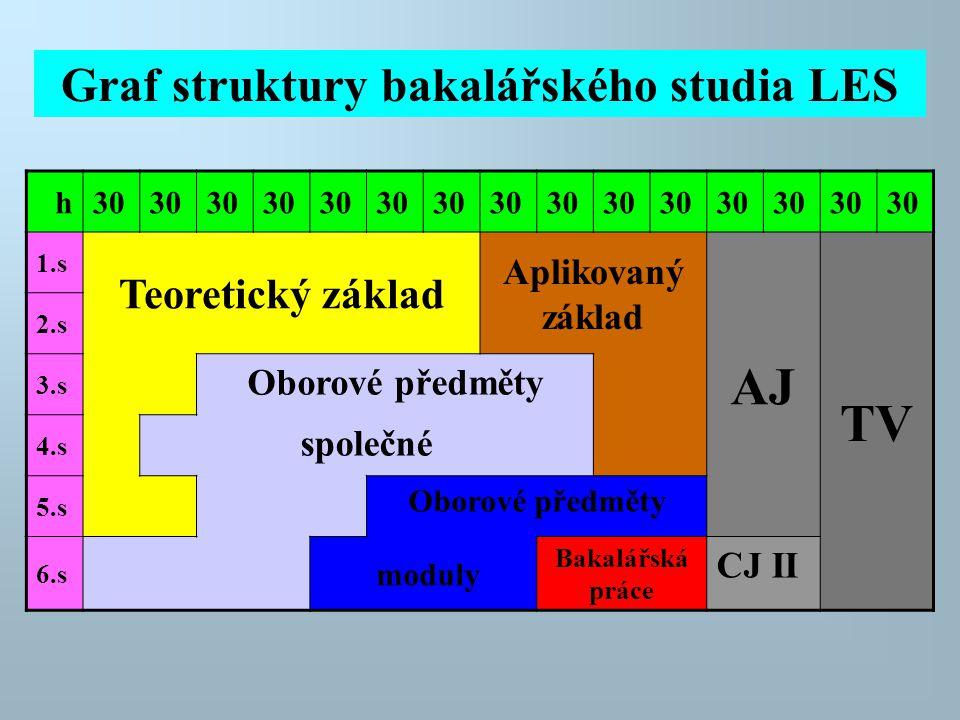 Graf struktury bakalářského studia LES