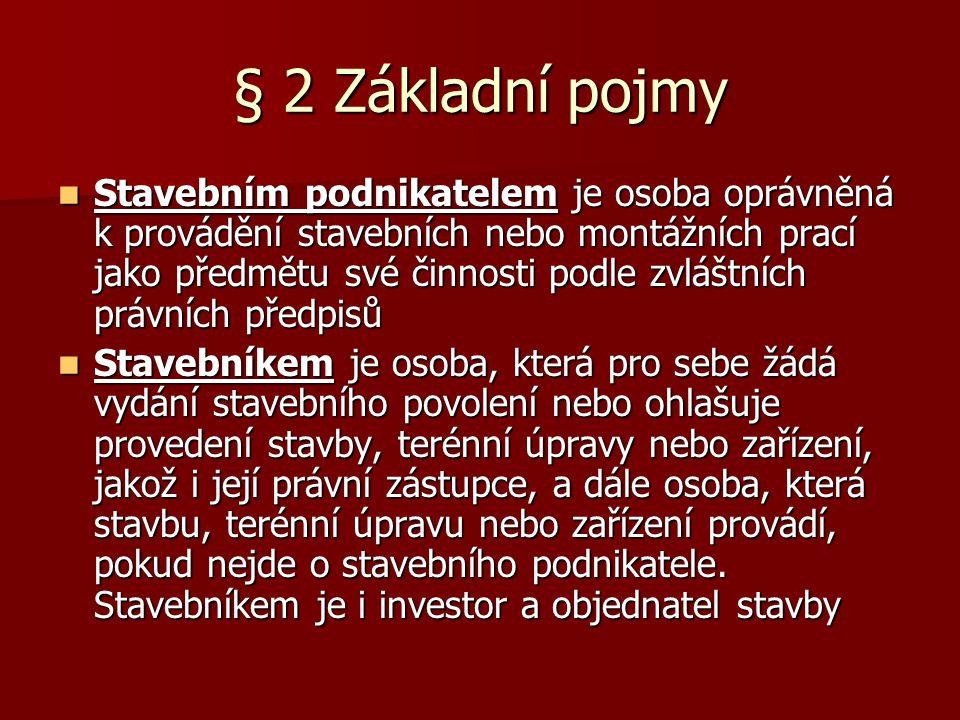 § 2 Základní pojmy