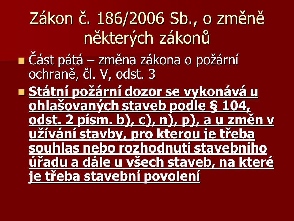 Zákon č. 186/2006 Sb., o změně některých zákonů