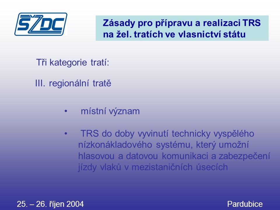 Zásady pro přípravu a realizaci TRS na žel. tratích ve vlasnictví státu