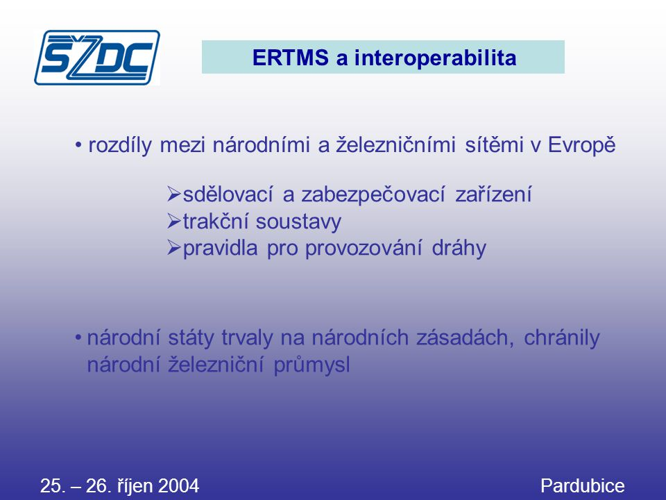 ERTMS a interoperabilita