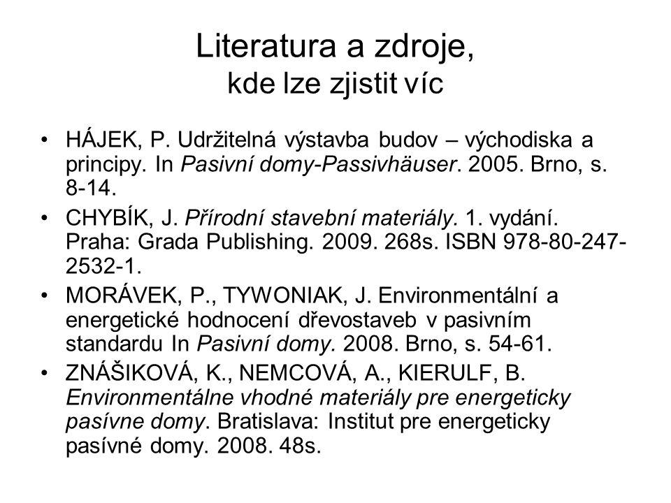 Literatura a zdroje, kde lze zjistit víc