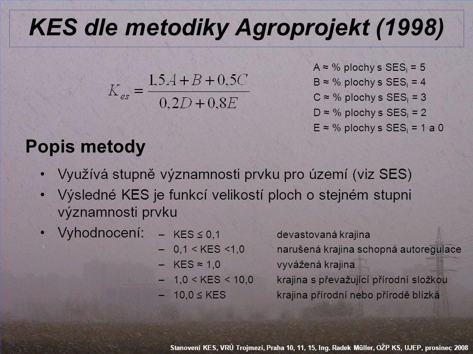 KES dle metodiky Agroprojekt (1998)
