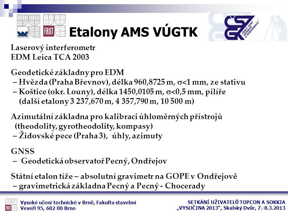Etalony AMS VÚGTK Laserový interferometr EDM Leica TCA 2003