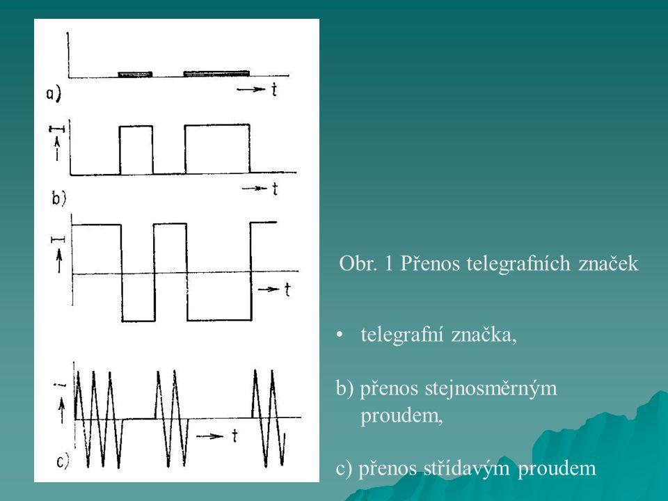Obr. 1 Přenos telegrafních značek