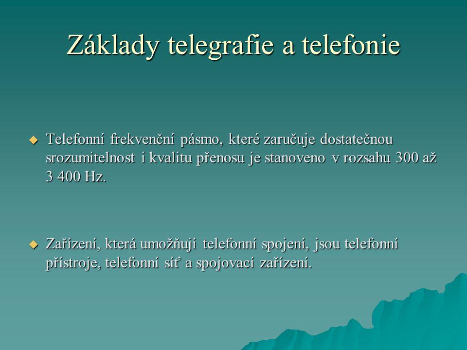 Základy telegrafie a telefonie
