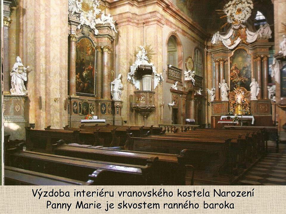 Výzdoba interiéru vranovského kostela Narození Panny Marie je skvostem ranného baroka