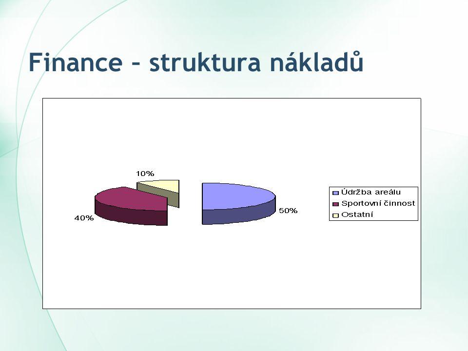 Finance – struktura nákladů