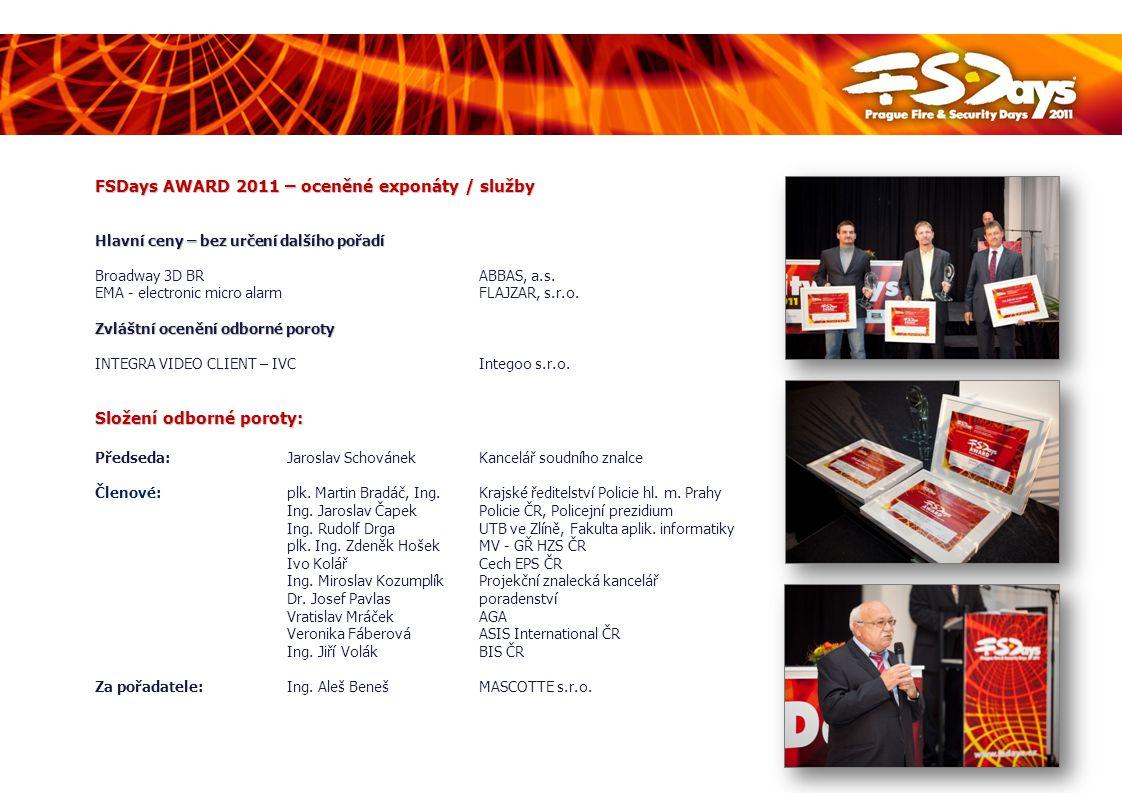 FSDays AWARD 2011 – oceněné exponáty / služby