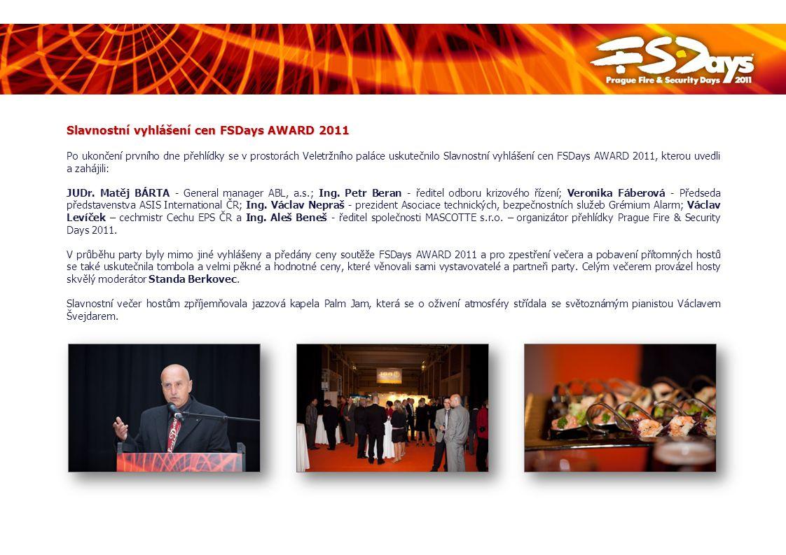 Slavnostní vyhlášení cen FSDays AWARD 2011