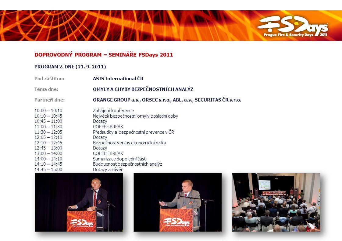 DOPROVODNÝ PROGRAM – SEMINÁŘE FSDays 2011