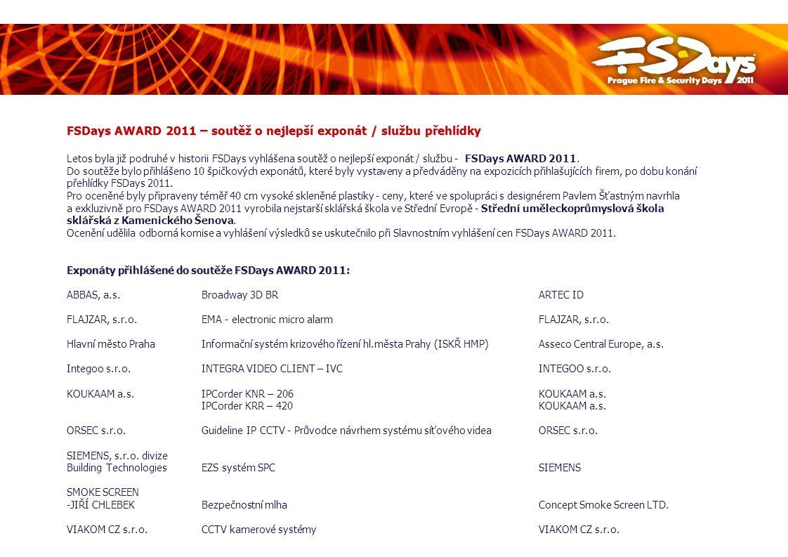 FSDays AWARD 2011 – soutěž o nejlepší exponát / službu přehlídky