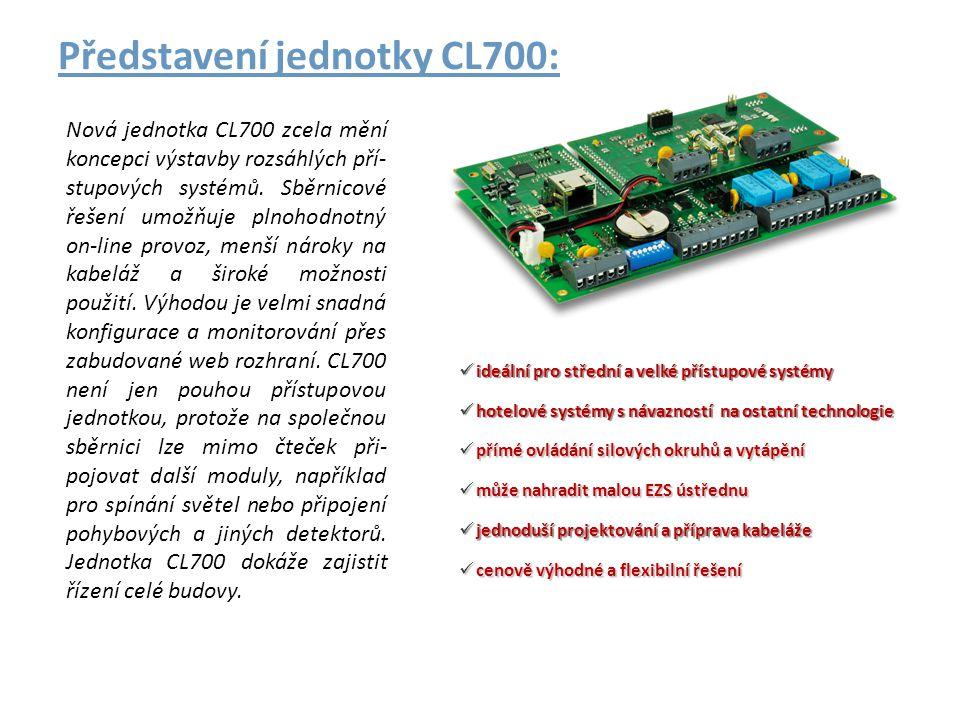 Představení jednotky CL700: