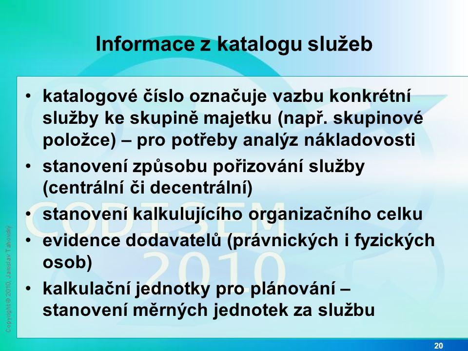 Informace z katalogu služeb