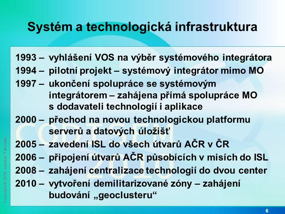 Systém a technologická infrastruktura