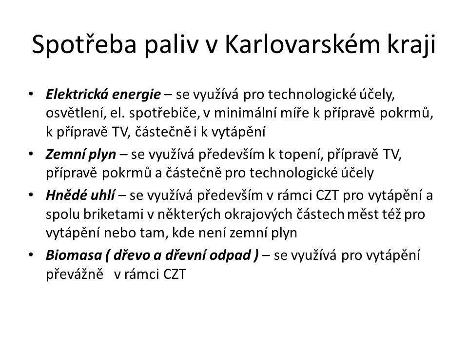 Spotřeba paliv v Karlovarském kraji