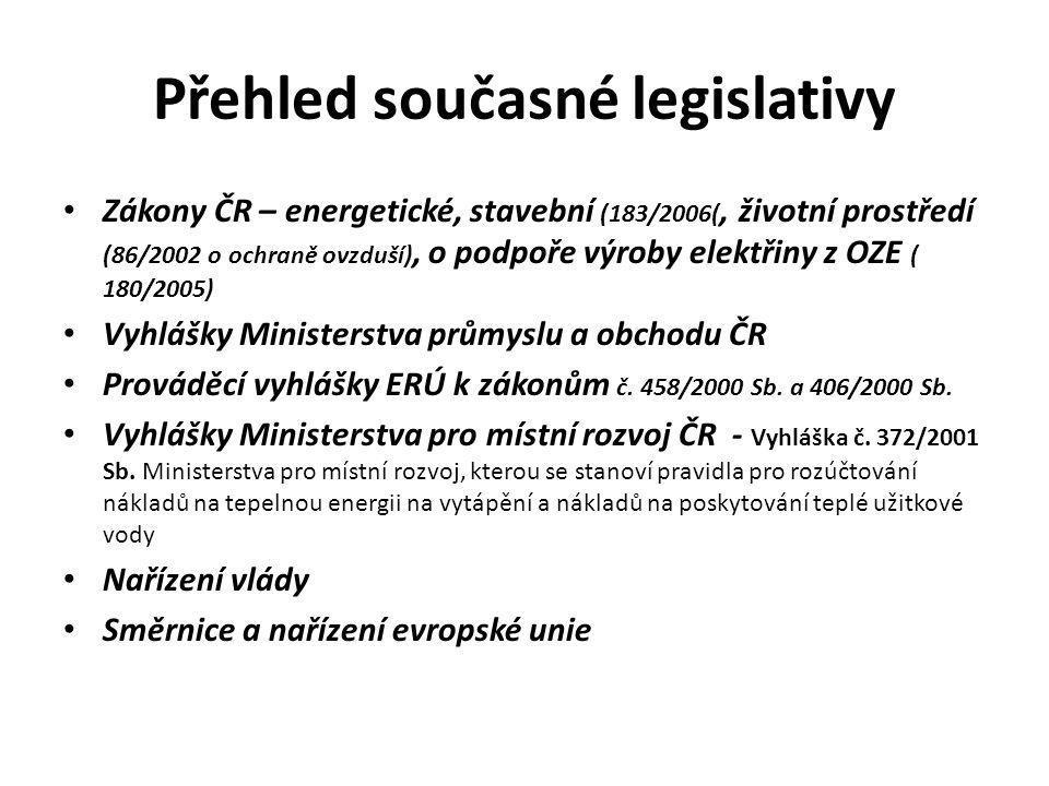 Přehled současné legislativy