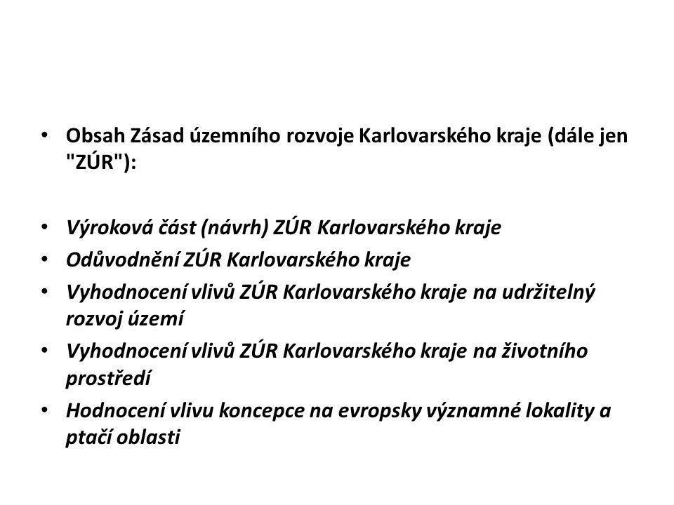 Obsah Zásad územního rozvoje Karlovarského kraje (dále jen ZÚR ):
