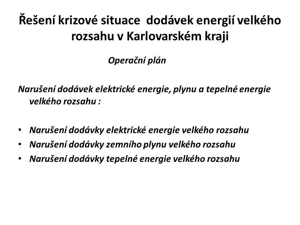 Řešení krizové situace dodávek energií velkého rozsahu v Karlovarském kraji