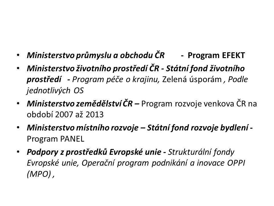 Ministerstvo průmyslu a obchodu ČR - Program EFEKT