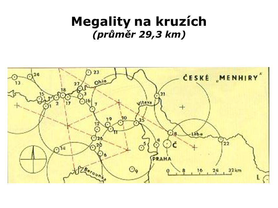 Megality na kruzích (průměr 29,3 km)