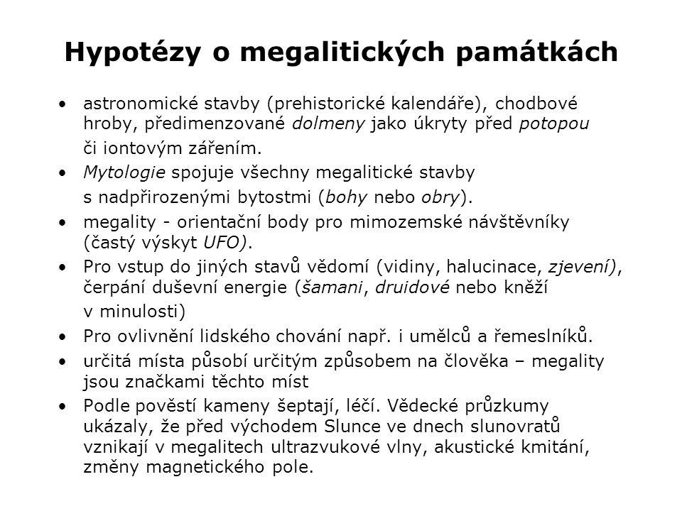 Hypotézy o megalitických památkách