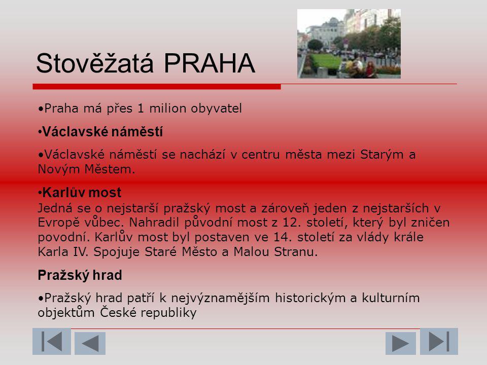 Stověžatá PRAHA Václavské náměstí