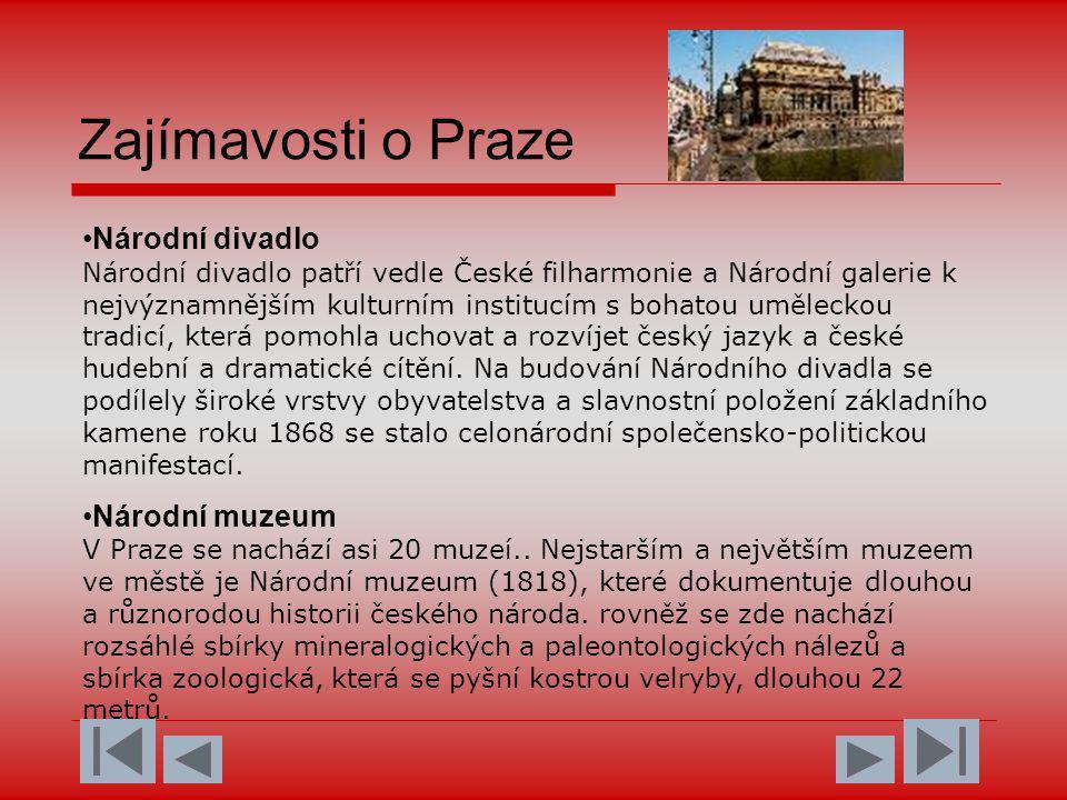 Zajímavosti o Praze
