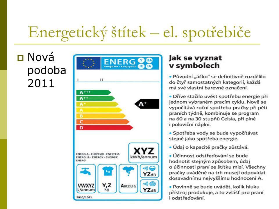 Energetický štítek – el. spotřebiče