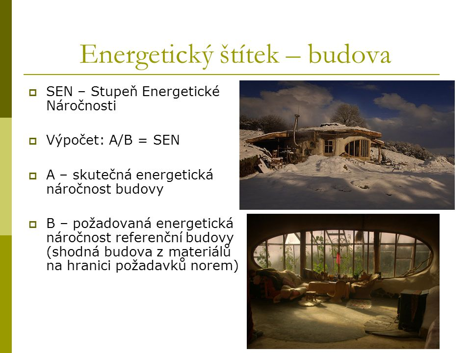 Energetický štítek – budova