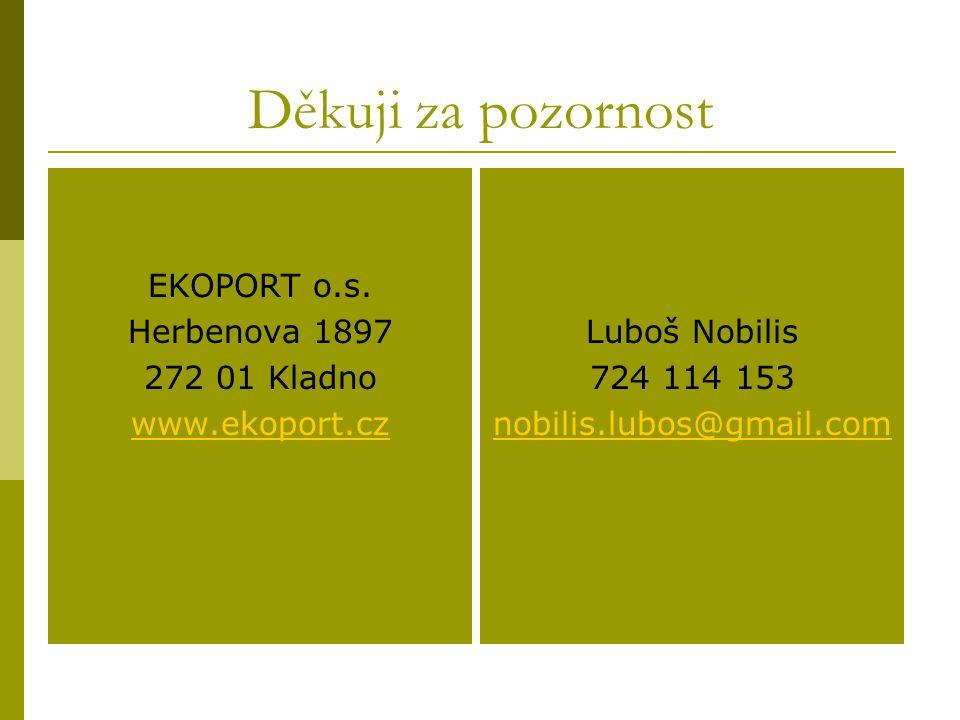 Děkuji za pozornost EKOPORT o.s. Herbenova 1897 272 01 Kladno