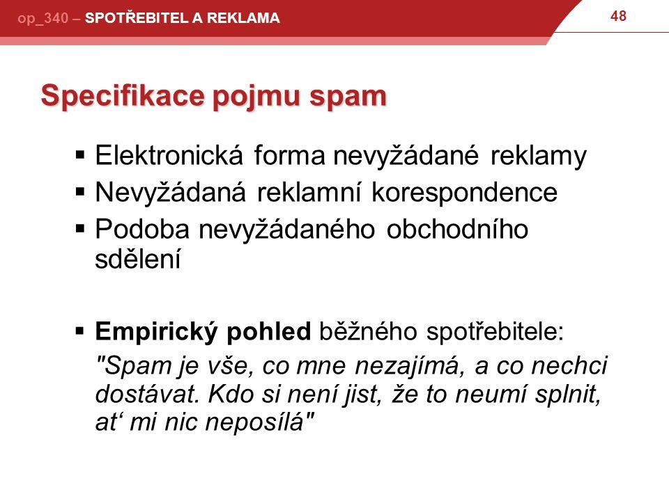 Specifikace pojmu spam
