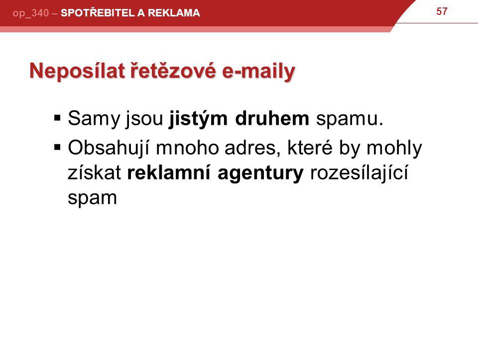 Neposílat řetězové e-maily