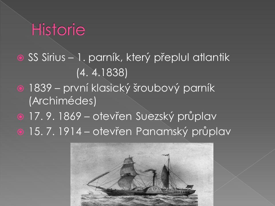 Historie SS Sirius – 1. parník, který přeplul atlantik (4. 4.1838)