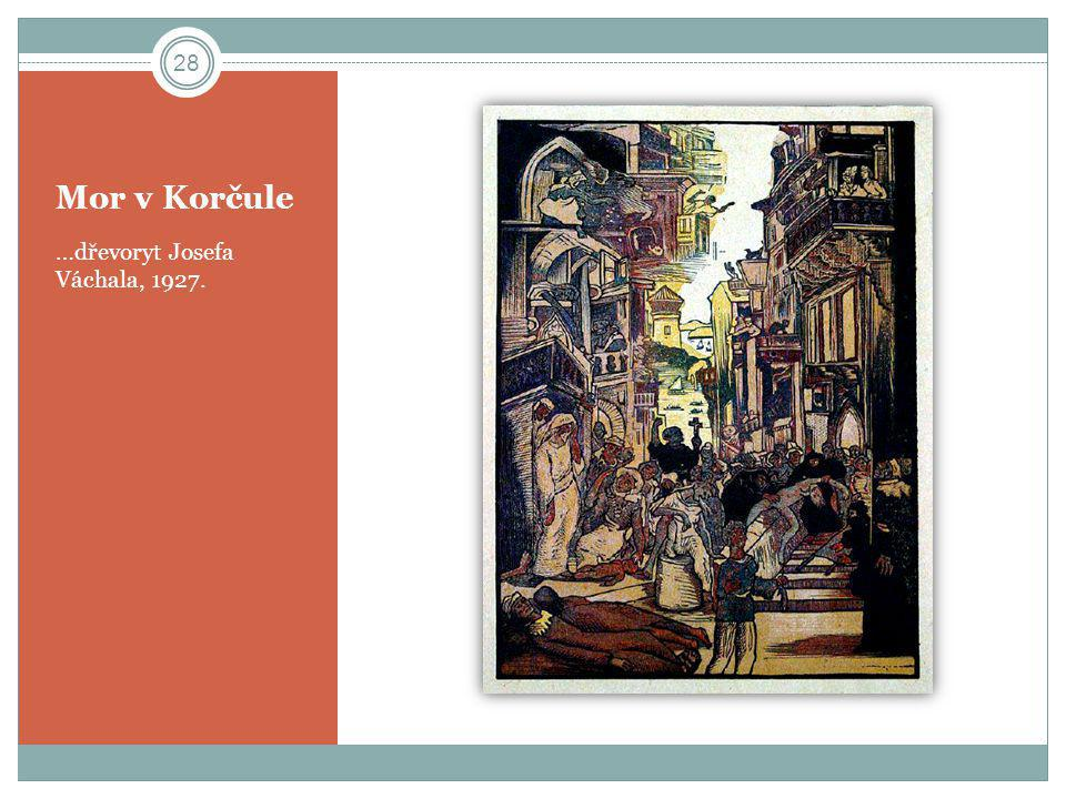 Mor v Korčule …dřevoryt Josefa Váchala, 1927.