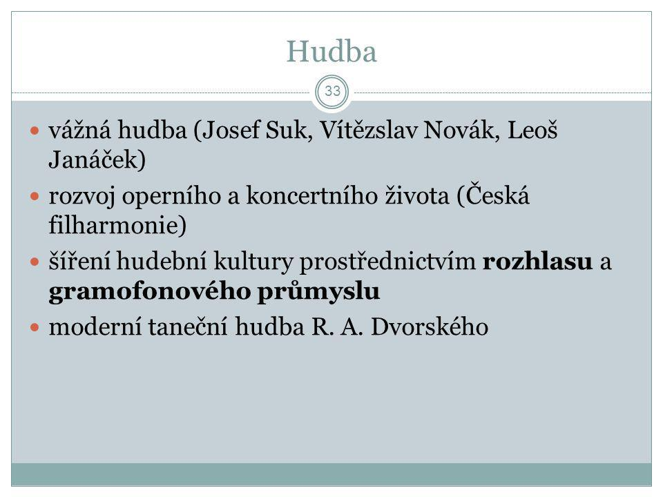 Hudba vážná hudba (Josef Suk, Vítězslav Novák, Leoš Janáček)