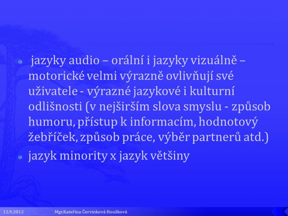 jazyk minority x jazyk většiny