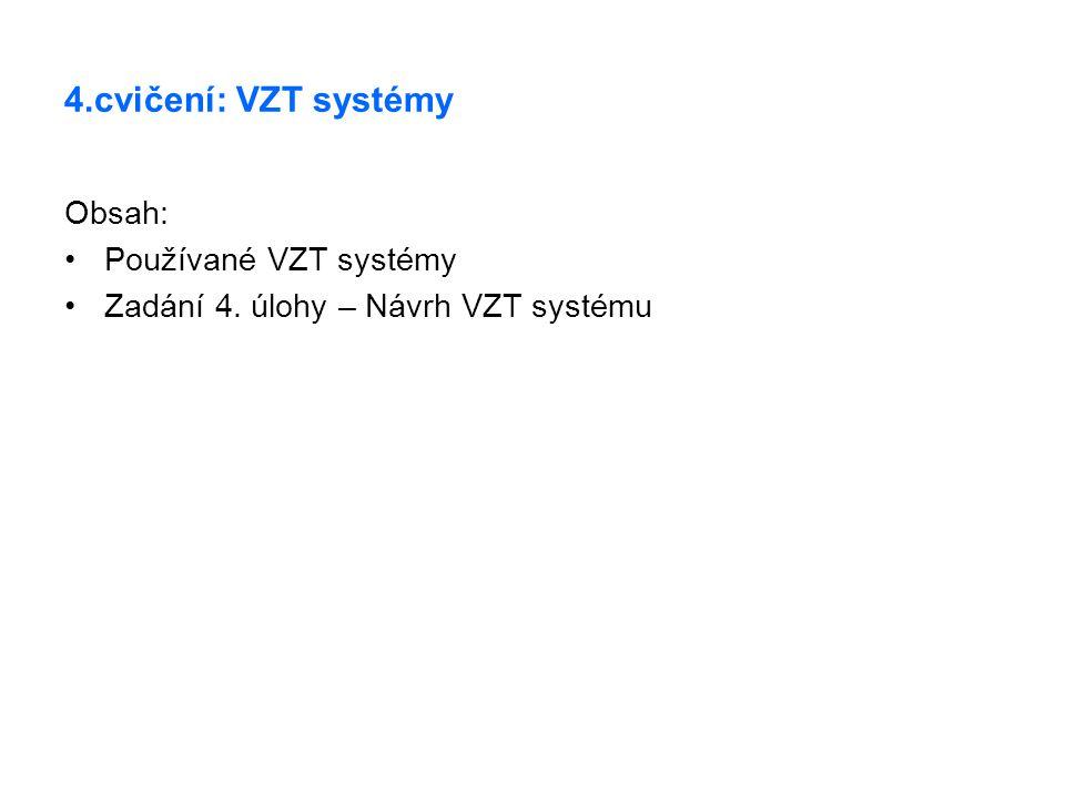 4.cvičení: VZT systémy Obsah: Používané VZT systémy