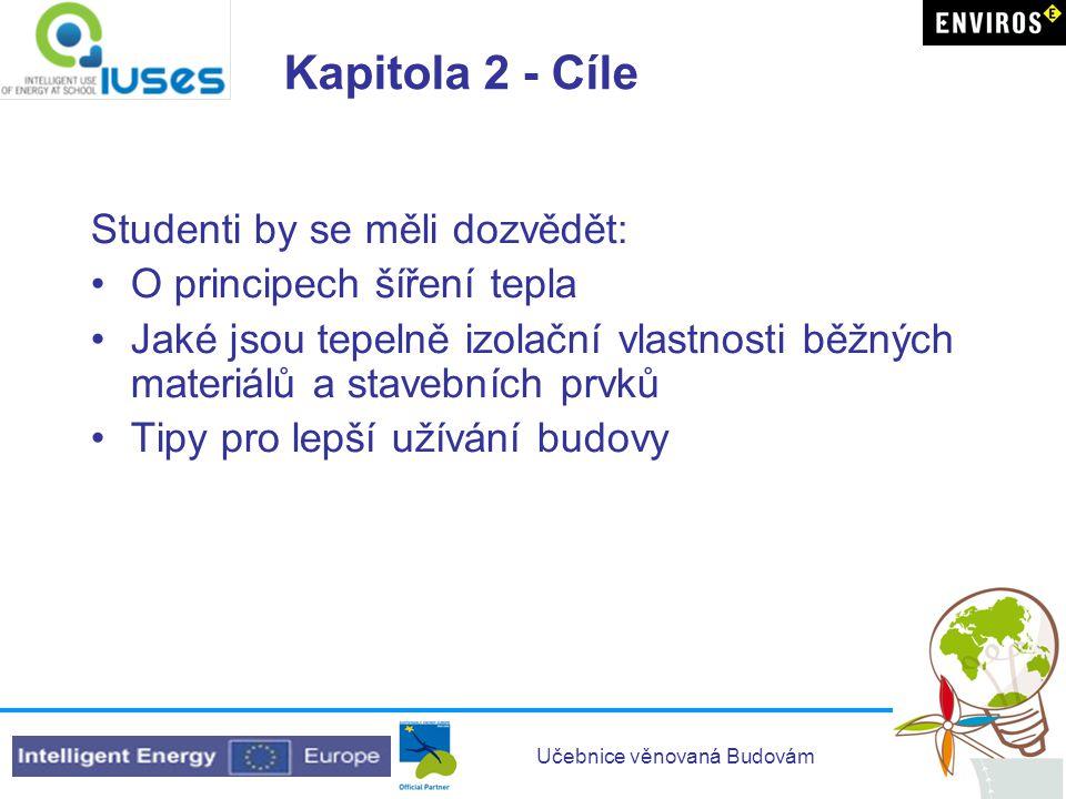 Kapitola 2 - Cíle Studenti by se měli dozvědět: